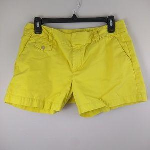 LOFT yellow Chino shorts size 6